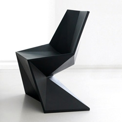 Cool faceted 'Vertex' chair by Karim Rashid for Vondom.