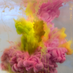 Amazing photos by Kim Keever made by dropping paint pigments into a 200-gallon tank of water. Exhibition coming to Waterhouse & Dodd Gallery, New York, April 1 - May 6.