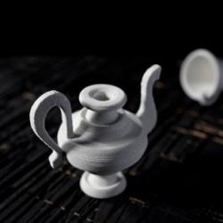 Siba Sahabi's delicate paper ceramic works.