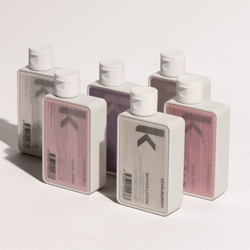 In time for the holidays haircare line Kevin Murphy launches a set of travel sized minis. Designed by Container each comes with an eye catching 'lenticular' changing label.