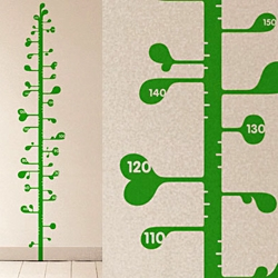 What a cool way for kids, or why not also grownups for that matter, to keep track of their height. Ana Mir's Measuring Plant is that perfect wallpaper decor.