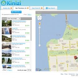Kinizi is a mashup of Hipmunk/Google Maps/Craigslist+Top 5 Rental Listing websites.