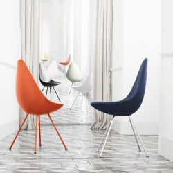 Danish furniture brand Republic of Fritz Hansen will revive the 1958 Drop chair designed by Modernist architect Arne Jacobsen.