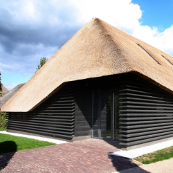 A 19th-century barn has been converted into an office, at Bavel in the Netherlands, to a design by the studio Arend Groenewegen Architect.