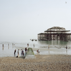 Pierdom is a documentation of the piers built in the sea during the Victorian era, once an essential requirement of the seaside resort, now a vestige of a bygone age. Photo by Simon Roberts.