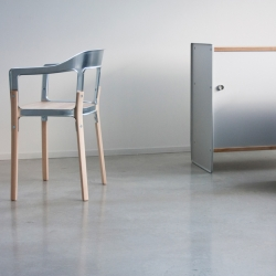 Theca & Steelwood Galva by Ronan & Erwan Bouroullec for Magis.