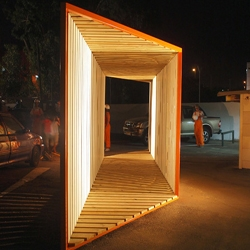 Northern Gate | first prize at Bat Yam Biennale of Landscape Urbanism. Project for public space designed and built within 72 hours.