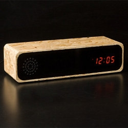 Wooden clock radio masters Furni gave their interns a shot at building a design of their own, using plywood instead of the typical solid versions.  The result?  The interns gave the pros a run for their money...