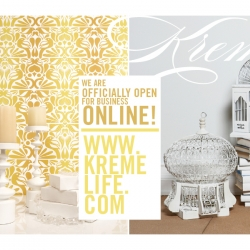 Kreme Life - Online Store officially open. Eco-Solvent / Low Voc Wallpaper - Designed & Manufactured in LA! [Editor's Note: Beautifully mesmerizing designs!]
