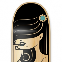 'Tail Grab' by South African artist Kronk for the 4th AIGA Bordo Bello 2011 event. The event auctions off artist skate decks for charity.