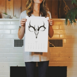 Once Upon A Beast // 2014 Ink Calendar by Hillary Kupish