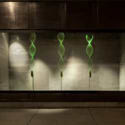 ...,staat creative agency x Selfridges x NIKE x London 2012.... Window 1 of 7 # A-moving-pattern-execution-of-Nike-Flyknit...