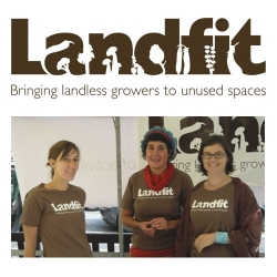 Landfit - Brand identity for a community landshare scheme where people with unused land let people who want to grow food use it, Designed by Good People.