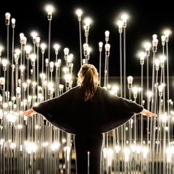 1,200 bulbs light up Lisbon at the 'LEDscape' installation, a bright collaboration between LIKEarchitects and IKEA.