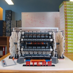 The Large Hadron Collider at Cern has been recreated in Lego.