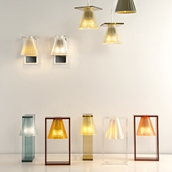New wall and hanging lamps in the 'Light Air' family by Eugeni Quitllet for Kartell.