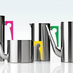 Paul Smith and Stelton. New series of products, from Arne Jacobsens series Cylinda Line, now with Paul Smiths touch.