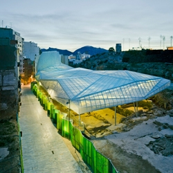 Some archeological sites are shrouded by neglect. But not the Roman ruins of Le Molinete, in Spain, where a polycarbonate roof designed by Amann-Cánovas-Maruri refreshes history.