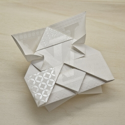 These origami invitation cards for an LV store opening in Osaka, Japan were designed by Happycentro in Verona, Italy.