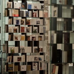 """L""""Institut is the name of the French bookstore at the French Institute in Bucharest designed by LUNDI et DEMI (Ciprian TOCU et Attila KIM) and nominated for the Interior Design Prize of the Bucharest Architecture Biennale 2010"""