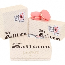 Special edition Macarons from Ladurée in collaboration with British designer John Galliano.