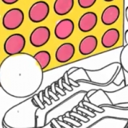 Animated video of new Lacoste Dot Fade Pick collection. Kudos for Lacoste!