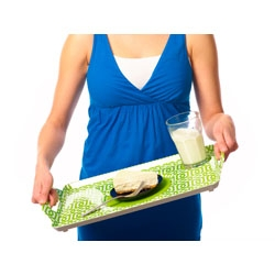 gorgeously designed dining/serving trays that have silicone non-slip areas for plates and glasses.