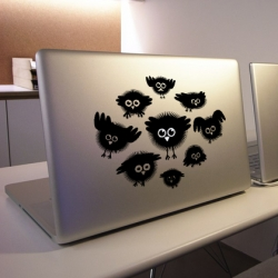 New range of laptop stickers by the London design company Hu2 Design.