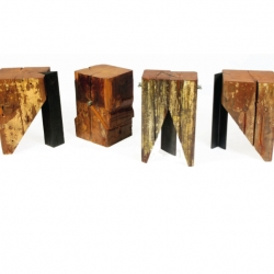 Jack Larimore introduces a new collection of furniture  from old soul salvaged timber. An ICFF standout!