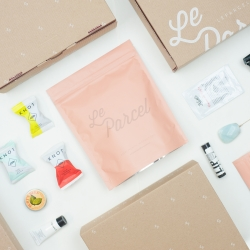 Le Parcel announces their 2015 packaging system.  Tampons, chocolate truffles & a gift shipped monthly to your door. That time of the month has never looked so good.