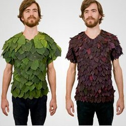 Dave Rittinger's Zero Footprint shirts are made of nothing more than leaves and glue.