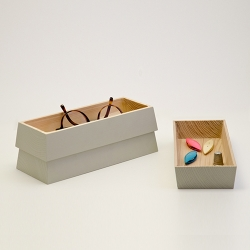 'Les Ruches' are stackable storage boxes inspired by the shape of beehives.