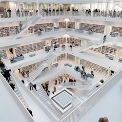 The stunning new Stuttgart City Library designed by Eun Young Yi.