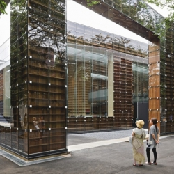 Sou Fujimoto's new library, The Musashino Art University Library.