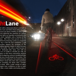 Cool concept gives cyclists a bike lane no matter where they are.