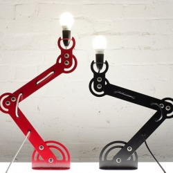 Like Butters' Light MKI have a distinctive, industrial arm-shaped design. They're designed to be mounted 'pretty much anywhere you can put a screw or a little g-clamp', be it ceiling, wall or desk.