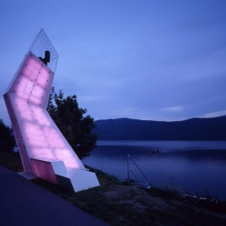 Söhne & Partner Architekten designed the lightsails project as guiding symbols for the exhibition around the Millstaetter lake, Austria.