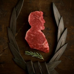Dominic Episcopo's 'Meat America' chronicles one artist's collection of photographed meats fashioned to look like everything from New Jersey to Abe Lincoln.