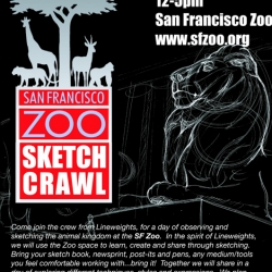 Bay Area Sketch blog goes LIVE!  Join the crew from the blog, along with other designers/ artist on a SF Zoo Sketch Crawl!
