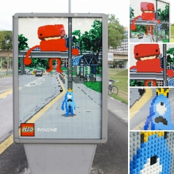 Great oudoor for Lego by Ogilvy Malaysia.