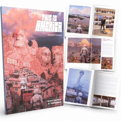 "Scott Listfield ""This Is America"" Exhibition Catalogue from Thinkspace! 48 page limited edition exhibition catalog. Edition of 200"
