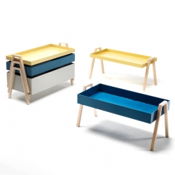 Milan 2012 preview: 'Stack' occasional table by Nathan Yong for Living Divani.