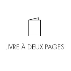 'Livre à deux pages' puts together non-sens and hilarious quotes made by during conversations. One phrase and one picture on 2 pages.