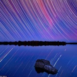 Photographer Lincoln Harrison puts a new spin on shooting stars.