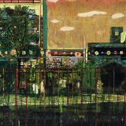 Market Motors Along at Christie's Contemporary Sale . The sale's top lot was Peter Doig's 'Night Playground' attracted at least four bidders and eventually sold for £3,009,250. Check out more works from the sale.
