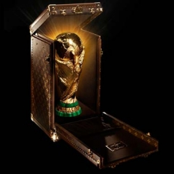 French fashion house Louis Vuitton teams up with FIFA for the second time to design a trophy case for this year's tournament.