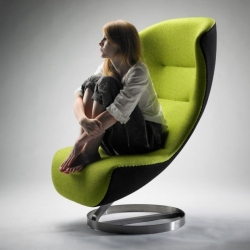 Green recliner designed Kläber Nico, a young German designer is a generalist design with a focus on industrial design.