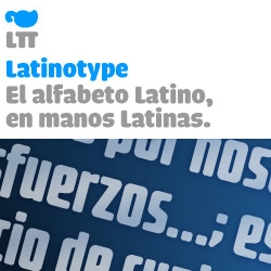 Latinotype is the first commercial chilean foundry. Offers new latino-american typefaces for a small price, with a high quality.