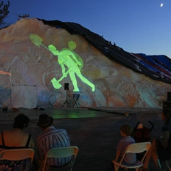 Lumen 2012 took place at the Atlantic Salt Company in Staten Island, NY, this past weekend where 50 artists used the 150,000 tons of salt piles as projection screens and stages.
