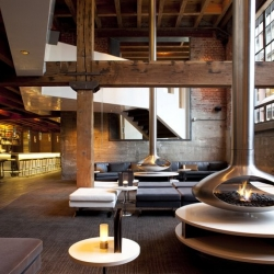 25 Lusk in SF, the new, 10,000 square foot, multi-level restaurant, lounge & bar located in a historic 1917 brick and timber warehouse that was once a meat packing and smokehouse facility.